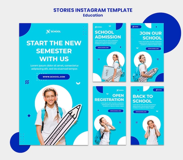 Education instagram stories template