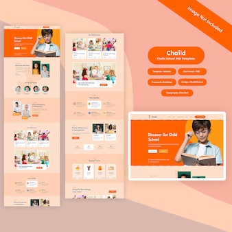 Education school psd template