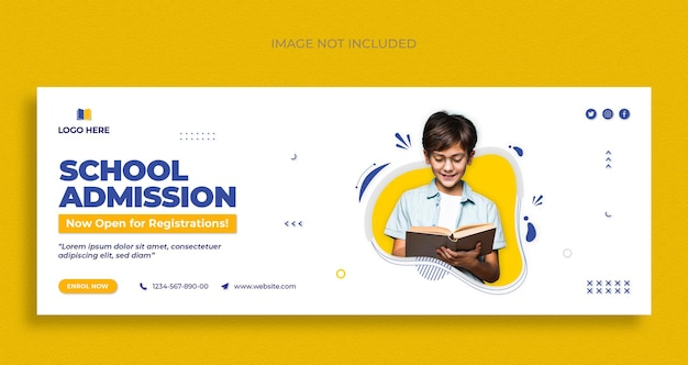 Education social media and facebook cover template design