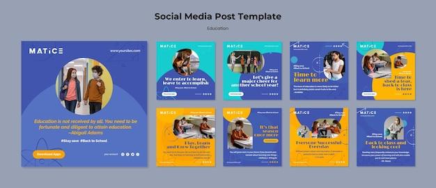 Education social media posts