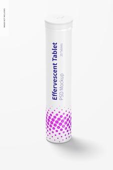 Mockup di bottiglia per tablet effervescente