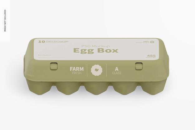 Макет коробки для яиц, изометрический вид