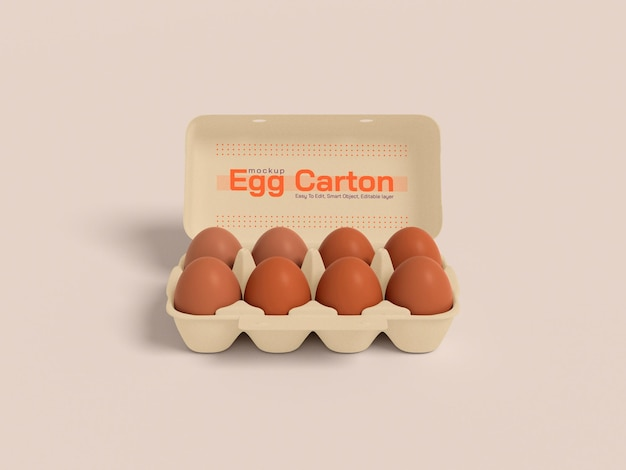 Макет картонной коробки для яиц