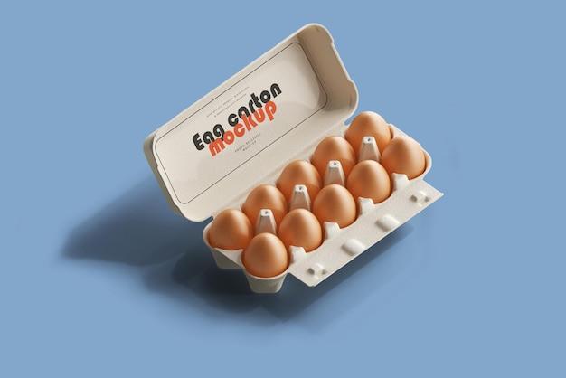 卵パックのモックアップ