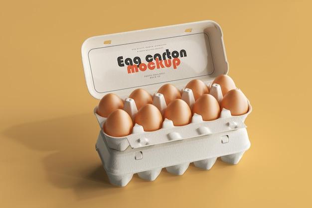 Мокап коробки для яиц