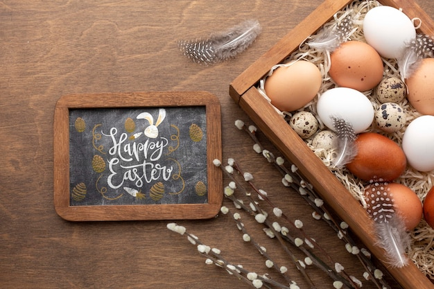 Яйца на пасху и рамку