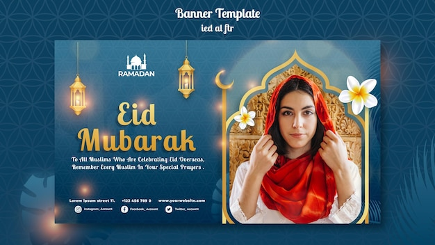 Eid al-fitr horizontal banner template