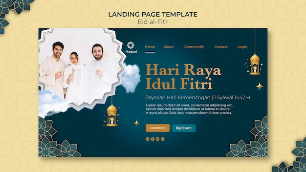 Eid al-fitr landing page template