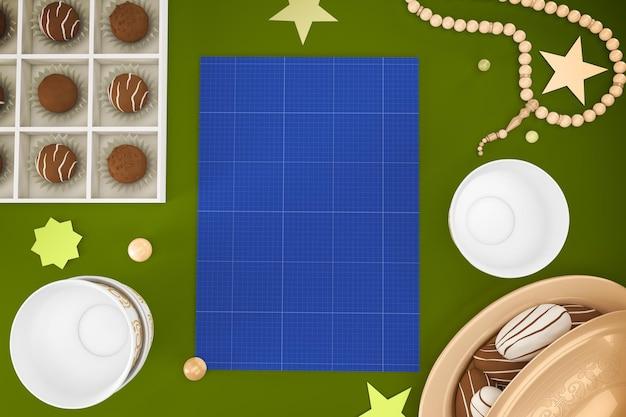 Eid 플라이어 목업