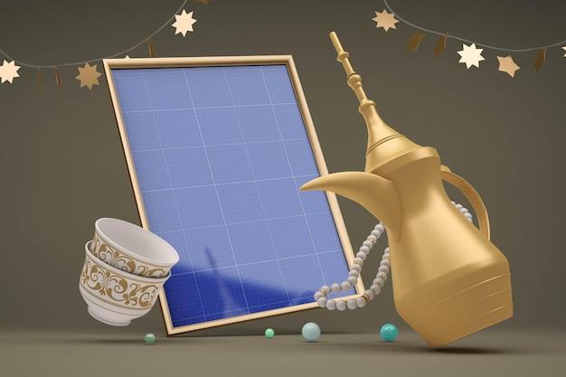 Eid frames design mockup