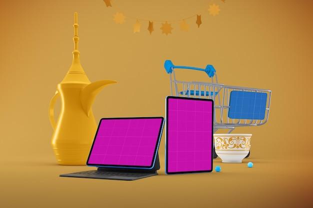 Eid responsive shopping mockup