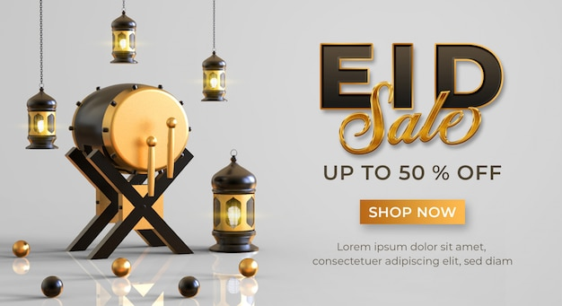 Eid sale banner template