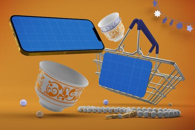 Eid 쇼핑 앱 목업