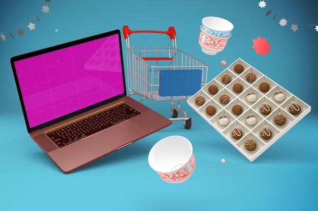 Eid shopping mockup