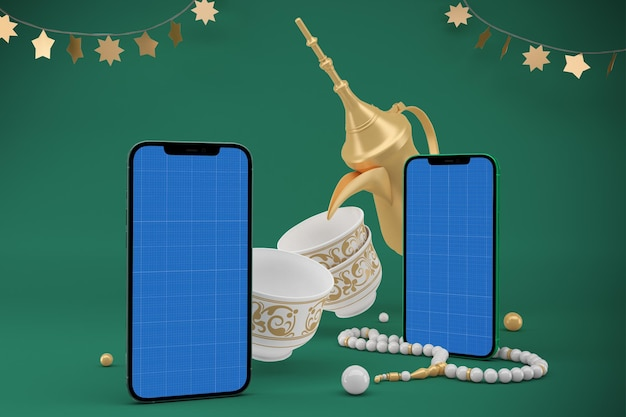 Eid smartphone design mockup