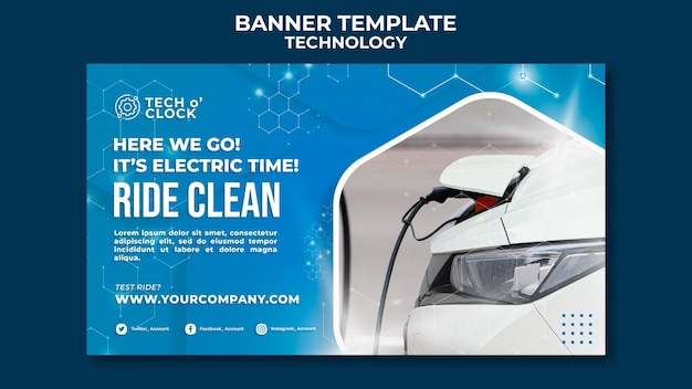Electric car banner template