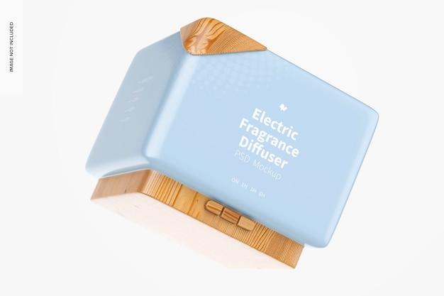 Mockup di diffusore di fragranze elettrico, galleggiante
