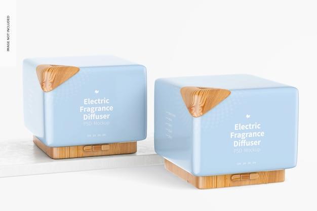 Mockup di diffusore di fragranze elettrico, prospettiva