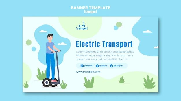 Modello di banner di trasporto elettrico