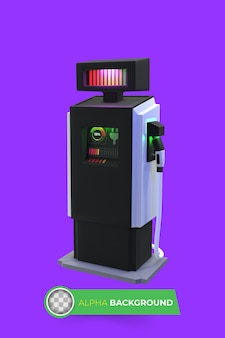 Electric vehicle charger. 3d illustration