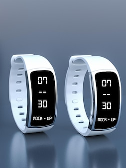 Electric watch mockup design in 3d rendering