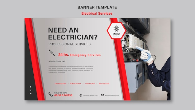 Electrical services banner design