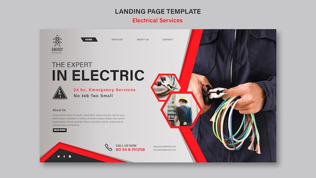 Electrical services landing page style