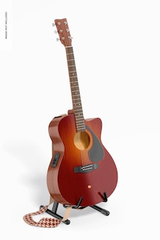Electro acoustic guitar mockup, right view