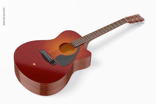 Mockup di chitarra elettroacustica, vista dall'alto