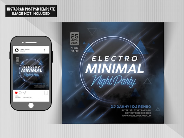 Electro minimal night party