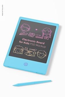 Scheda elettronica per bambini mockup, vista dall'alto