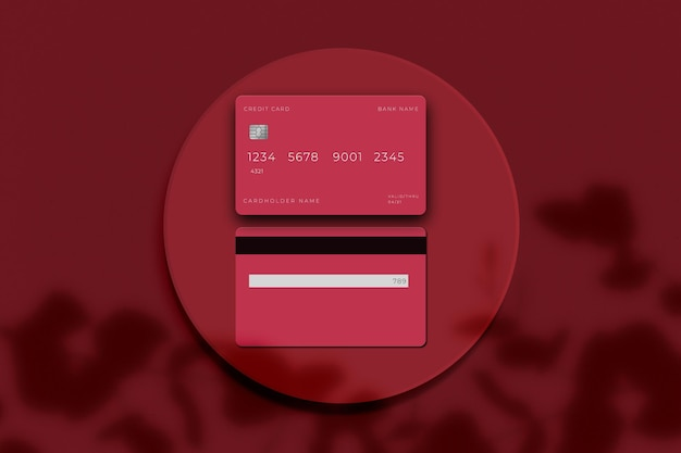 Electronic card for bank business credit card mockup