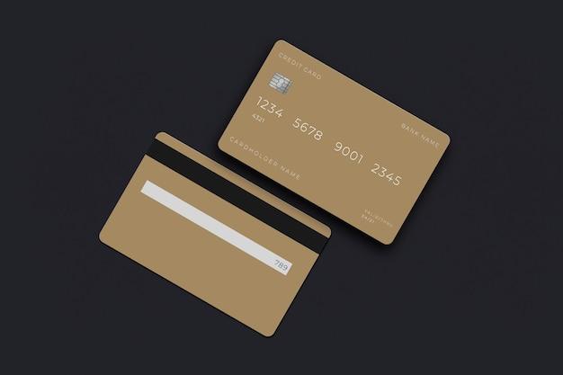 銀行業務用クレジットカードモックアップ用電子カード