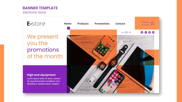Electronic store banner template