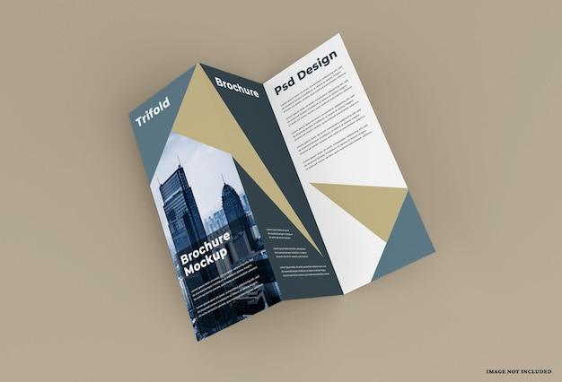 エレガンス三つ折りパンフレットモックアップデザイン