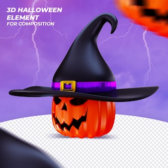 Элегантный элемент 3d визуализации для хэллоуина
