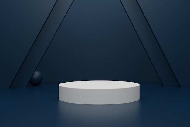 製品広告のためのエレガントな3dレンダリング表彰台
