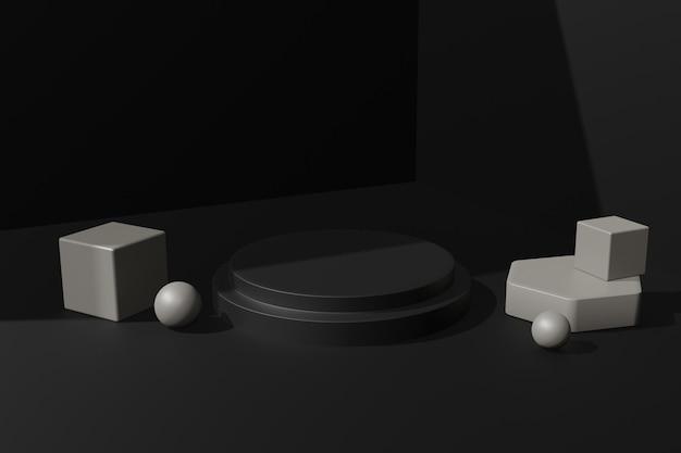 제품 스탠드에 대한 우아한 3d 렌더링 연단 무대 배경