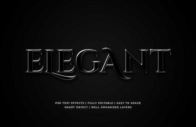 Elegant 3d text style effect mockup