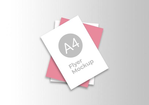Elegant a4 flyer mockup