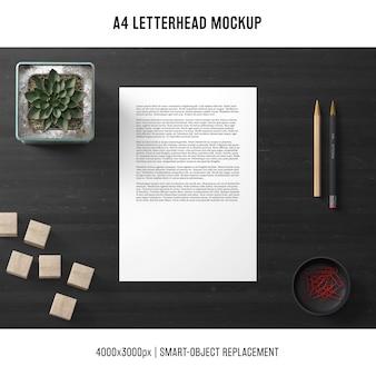 Elegant a4 letterhead mockup