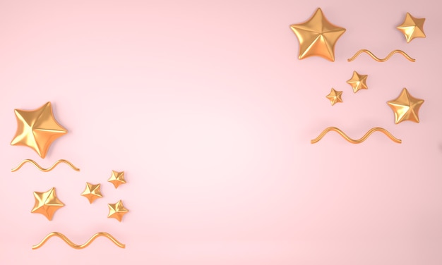 Elegant abstract background with stars 3d rendering.