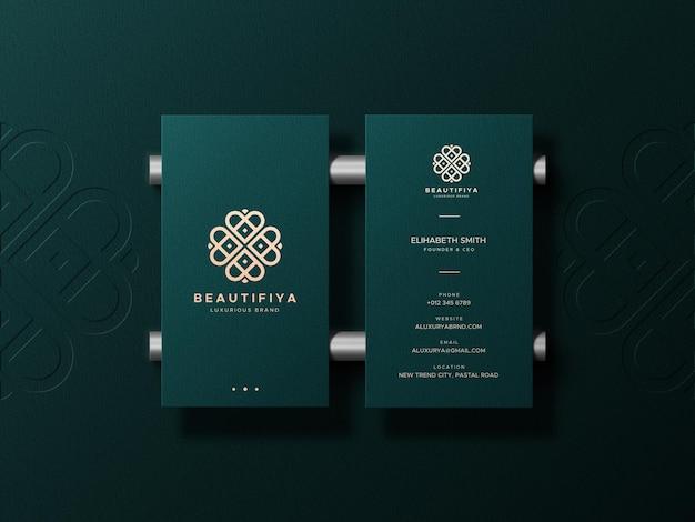 Элегантный и роскошный макет визитной карточки