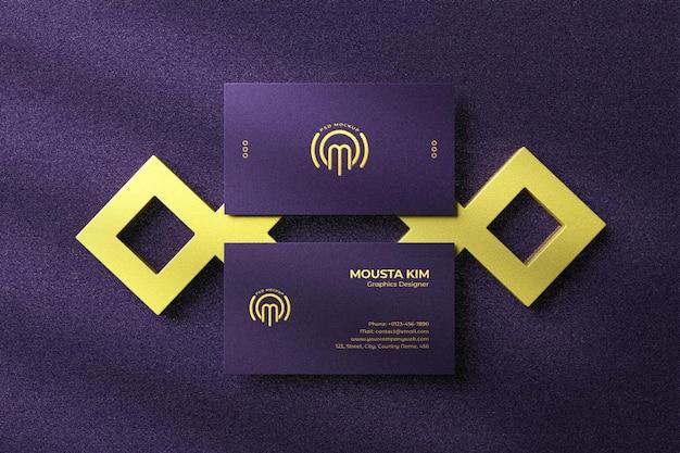 Элегантный и роскошный макет визитки