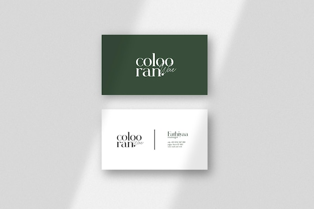 Элегантный и минималистичный макет визитной карточки