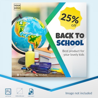 Elegant back to school discount social media post template