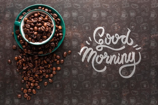 Elegant background with coffee beans