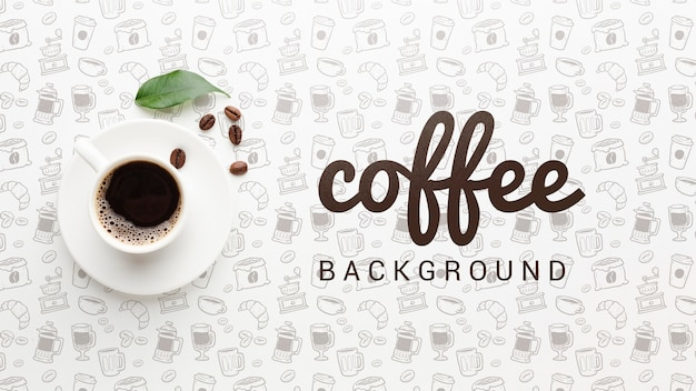 Elegant background with coffee cup