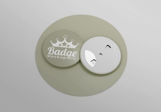Elegant badge mockup for accessories