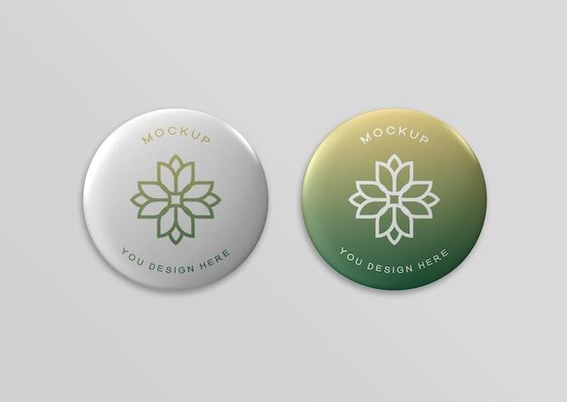 Elegant badge mockup